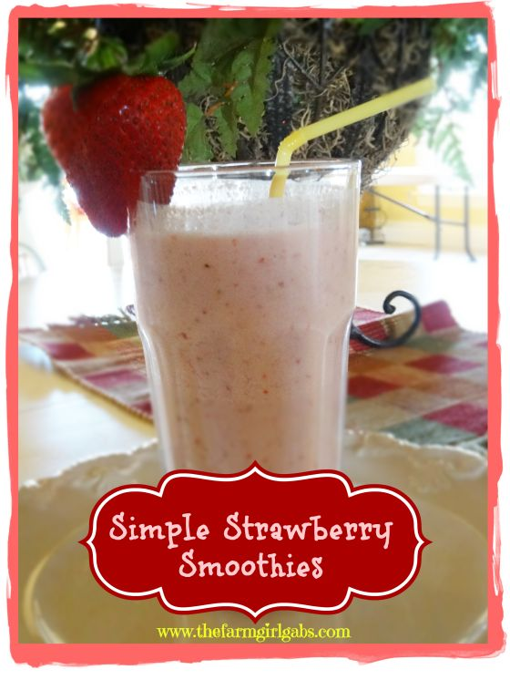 This super simple strawberry smoothie is healthy, versatile and quick to make. It's made with #JerseyFresh strawberries and perfect for anytime of the day. www.thefarmgirlgabs.com