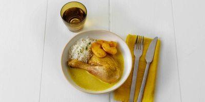 Ovengebakken kip met zachte kerrie en gebakken appel | Carrefour market