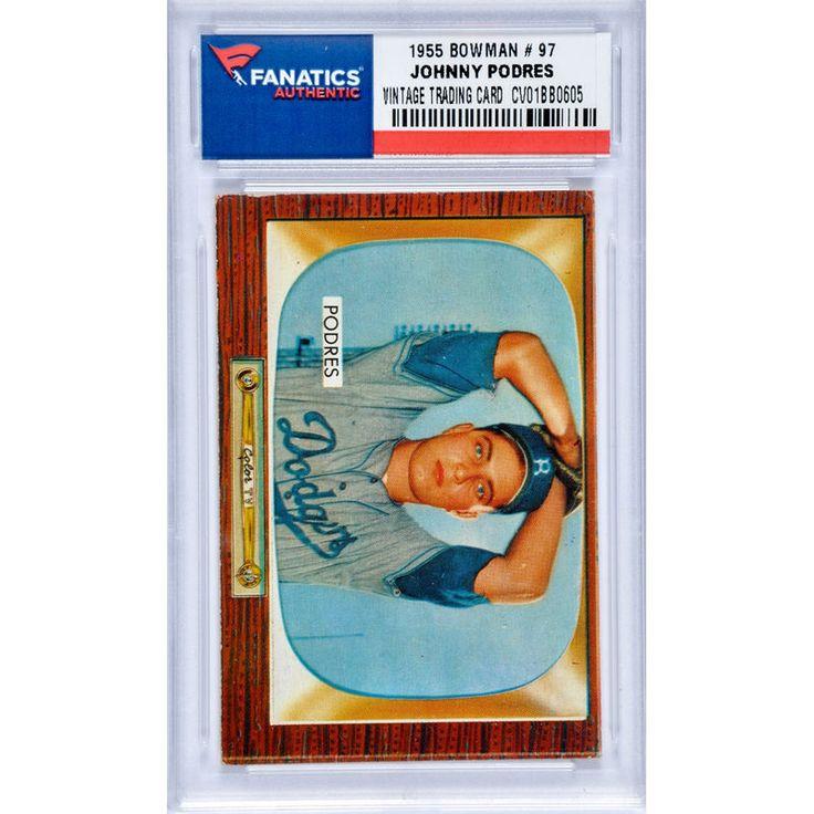 Johnny Podres Brooklyn Dodgers 1955 Bowman #97 Card