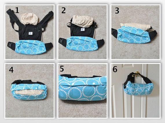 Baby Carrier Wrap Blue Flower by monpetitbonheur on Etsy