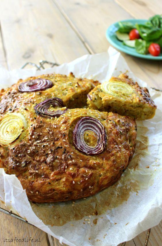 bloemkoolcake | It's a Food Life naar recept van ottolenghi