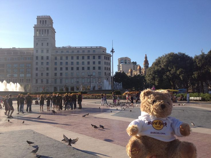 Jordi Rocks' tour of Barcelona begins!! He's in Plaza Catalunya today, right next to home, enjoying the glorious sunshine!!