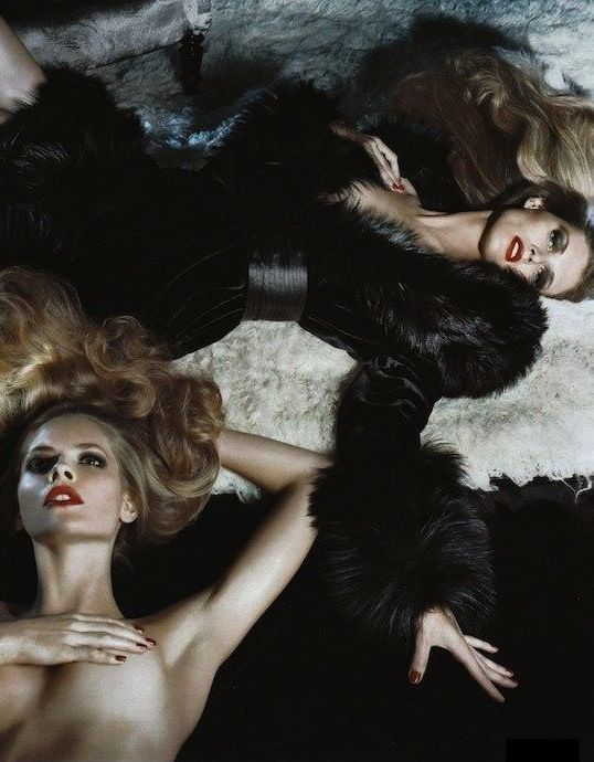 Steven Meisel … Julia Stegner & Malgosia Bela … Gianfranco Ferré campaign … Fall/Winter 2008 …