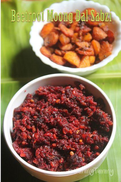 YUMMY TUMMY: Beetroot Moong Dal Sabzi Recipe