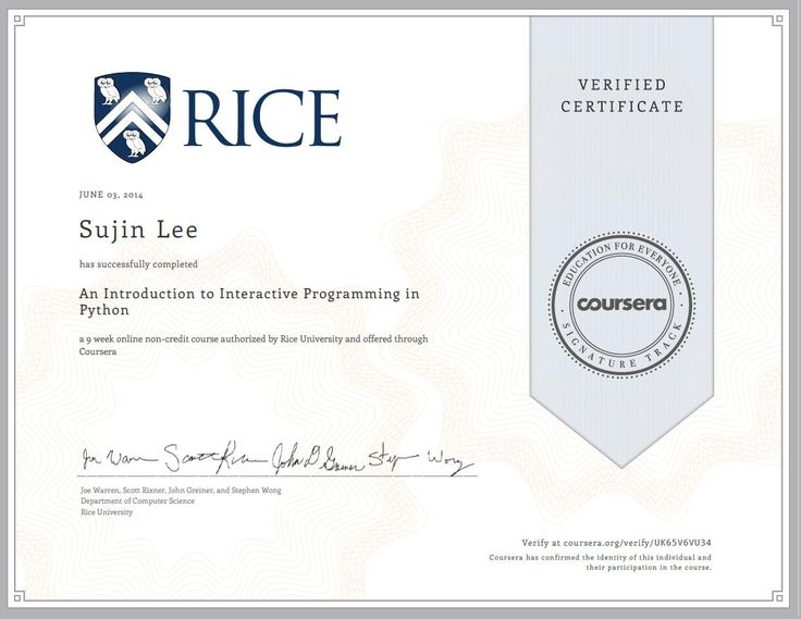 An Introduction to Interactive programming in python - Coursera - Rice University
