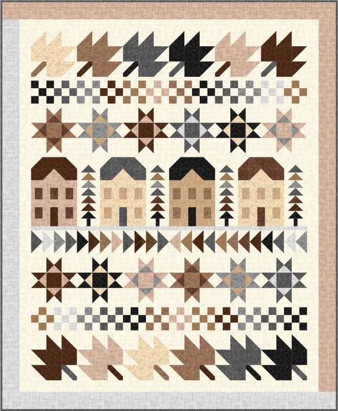 = free pattern = Harmony Row quilt by Wendy Sheppard at Ivory Spring