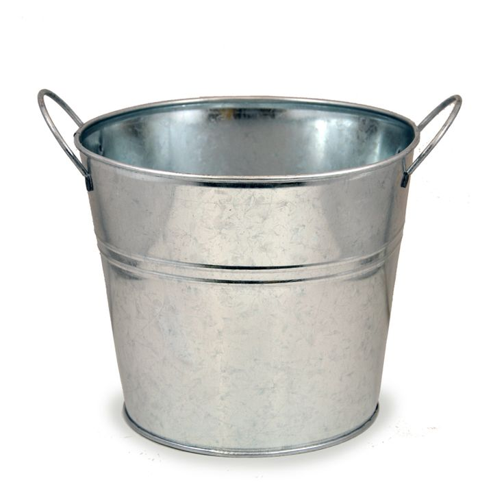 Jillian Classic Round Metal Bucket with Side Handles