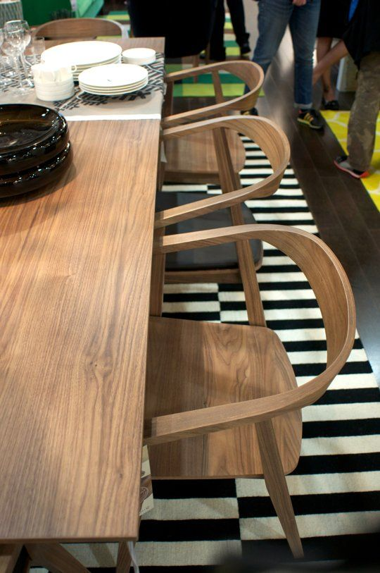 New from IKEA!  The Stockholm Table and Chairs, Coming in August   International Contemporary Furniture Fair 2013