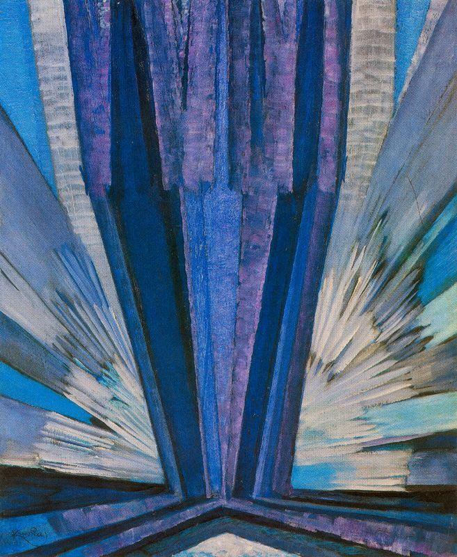 Frantisek Kupka - Blue, 1914, oil on canvas