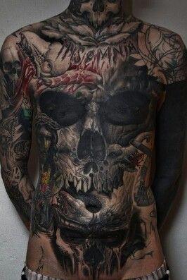 Wicked skull chest piece.