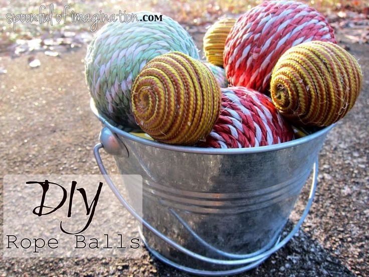 Decorative Rope Balls 29 Best Diy What To Do With Rope Images On Pinterest  Craft Ideas