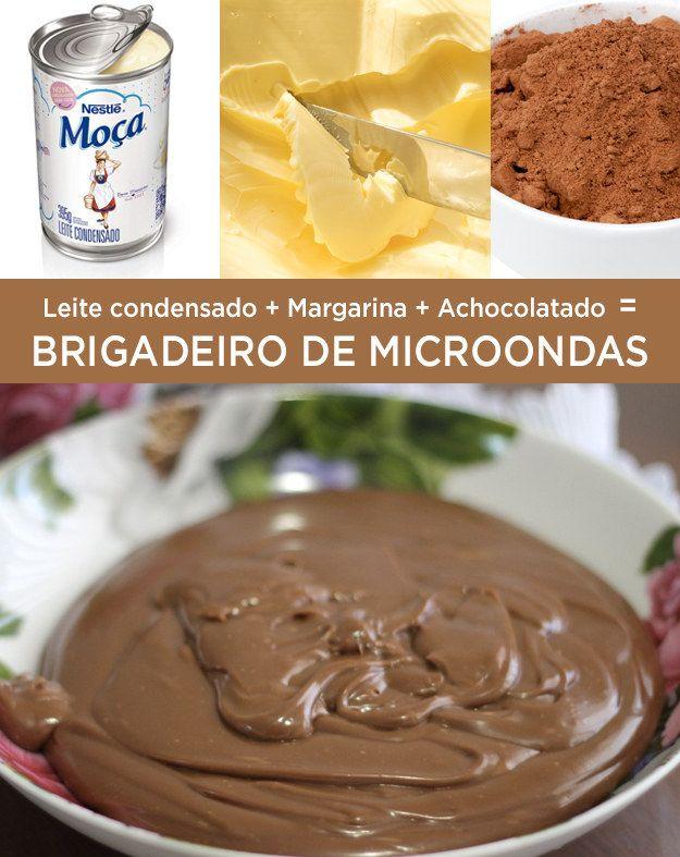Brigadeiro de microondas | 10 receitas para quem tem muita, mas MUITA preguiça mesmo de cozinhar