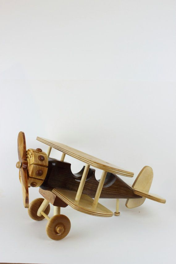 Great Wooden Bi Plane by JThomasStudios on Etsy, $60.00