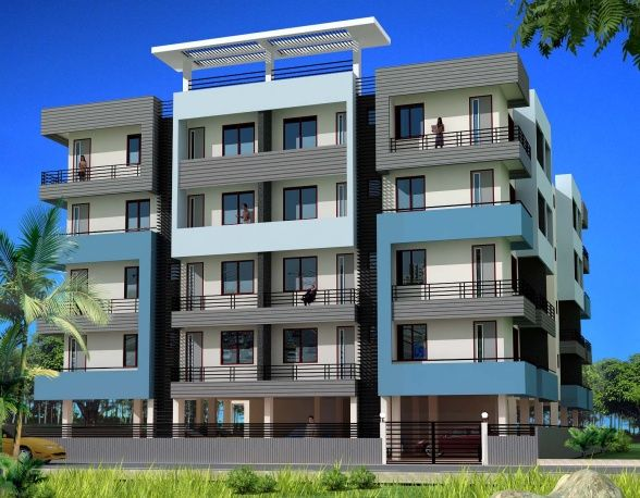 Apartment building exterior colors category apartment for Small apartment building designs