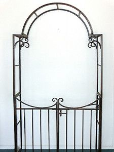 GARDEN GATE ARCH ARBOR TRELLIS WROUGHT IRON POWDER COATED   QUALITY  NEW