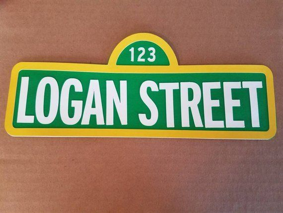 Small Customized Sesame Street Name Birthday Name Sign Sesame