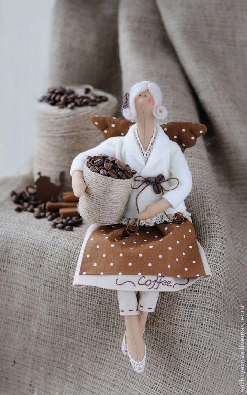 Купить Кофейная фея в стиле Тильда. - разноцветный, кофе, латте, кухня, подарок, тильда