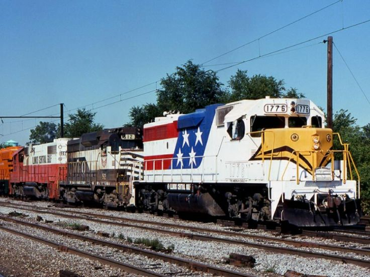 ICG Bicentennial engine 1776 | Illinois central railroad ...