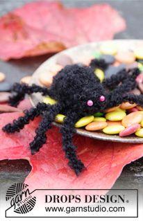 """DROPS Halloween: gehaakte spin van """"Symphony"""" of """"Alpaca Bouclé"""" . ~ DROPS Design"""