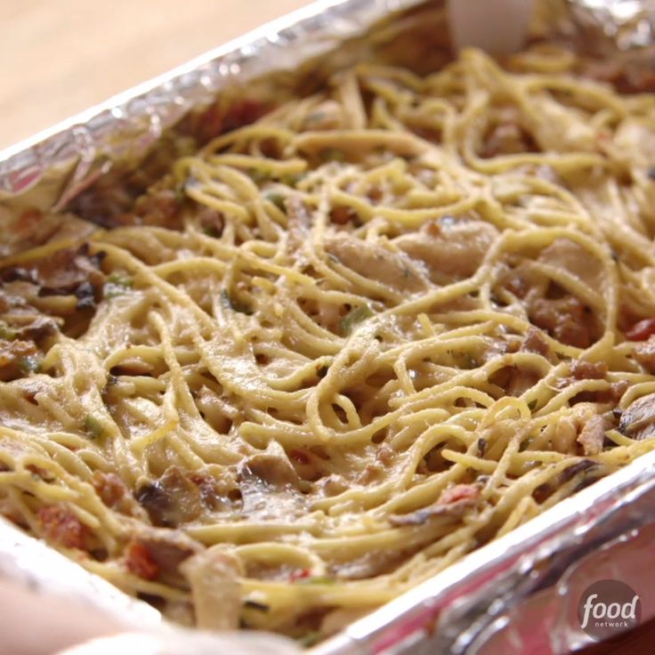Recipe of the Day: Ree's Spicy Chicken Spaghetti Do something today that your future self will thank you for: Cook up Ree's meaty and spicy chicken spaghetti. You can make the entire casserole, pop it into the freezer, then bake it while it's still frozen. You'll have a filling meal and hardly any cleanup.