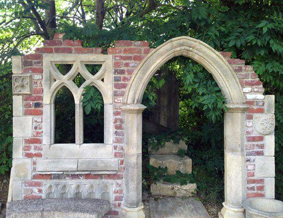 Garten Stein Ruine Aus England Hawkesbury Castle Ruinen Gartensteine Garten