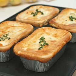 Chicken potpie - a hearty filling, a flaky crust
