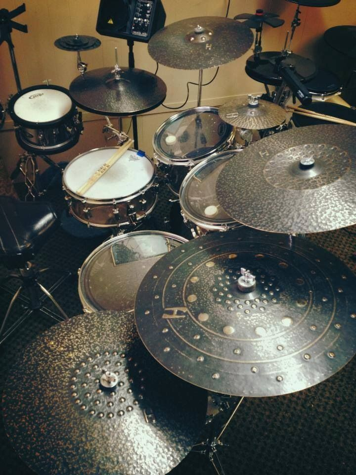 Beautiful different, textured cymbals are ART as well as MUSIC! -- #DdO:) - https://www.pinterest.com/DianaDeeOsborne/drums-drumming-joy/ - DRUMS AND DRUMMING JOY. Reminds me of Viking shields of beaten metal like blacksmiths used to make when not taking care of horses. Pinned via Ben Howe.