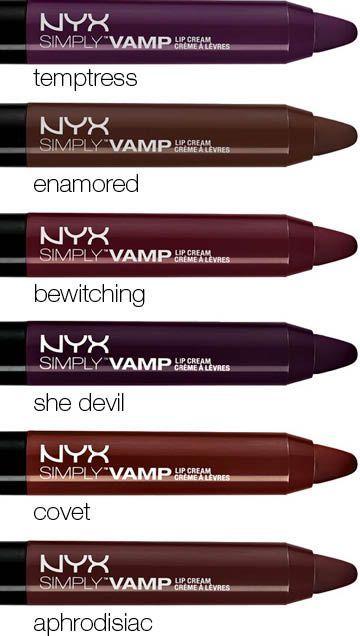 NYN Simply Vamp Lip Cream (Temptress & Covet)