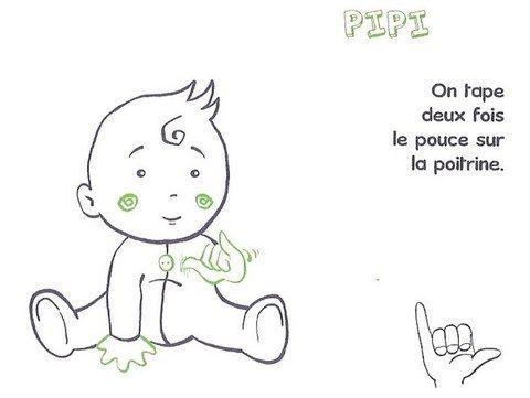 signe avec bébé PIPI