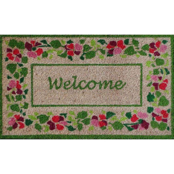 first impression summer flower welcome coir mat 1u00275 x 2u00275