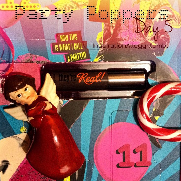 Unboxing Day 5: they're REAL Mascara!Μόλις ανοίξεις το Party Poppers θα ακούσεις το 12 days of Christmas λίγο αλλαγμένο για όλα τα benebabes ;) You bet they're real! Oι προσευχές σου για κολλοσιαίες...