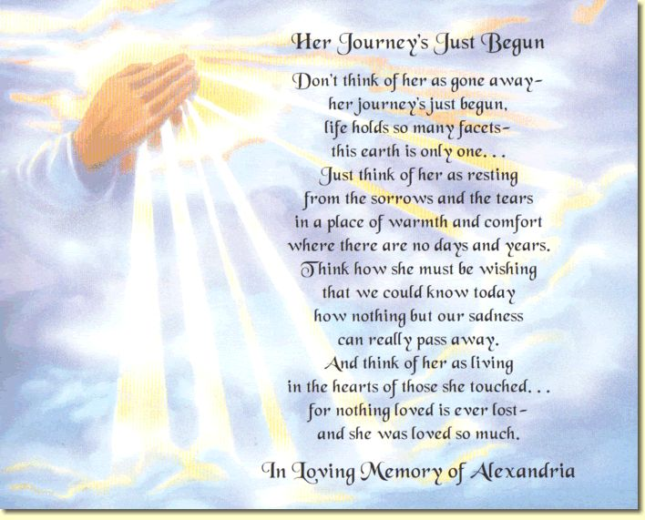 Religious Memorial Poems Poem To Create A Special