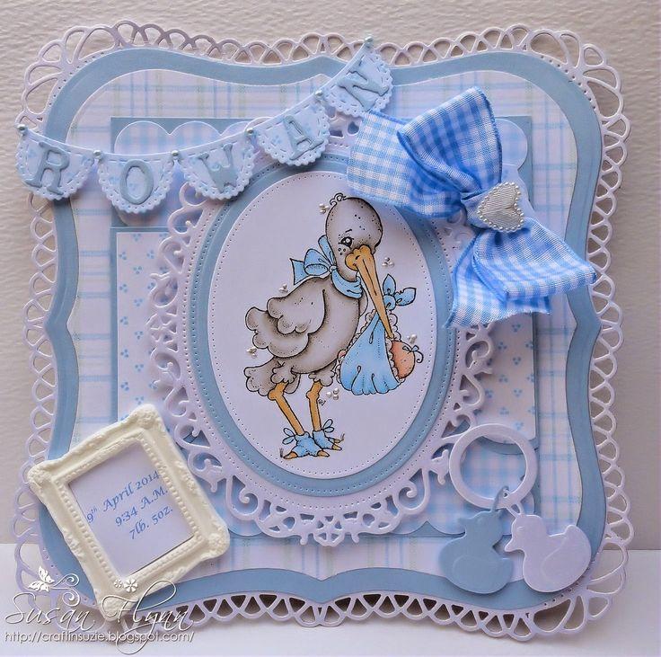 Susan Flynn: Craftin' Suzie: Card for a Special Boy - 4/21/14. (Magnolia: Special Delivery).