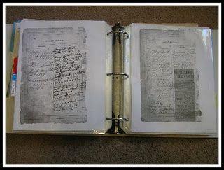 Organizing and storing genealogy.