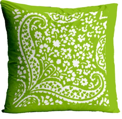 https://flic.kr/p/A5U3Ja | IKAT_CACHEMIRE_green apple cushion a | www.spoonflower.com/designs/4463750