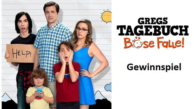 """Gewinnspiel: wir verlosen ein tolles Fanpaket zum Film """"Gregs Tagebuch – Böse Falle"""". Zum Teilnahmeformular:"""