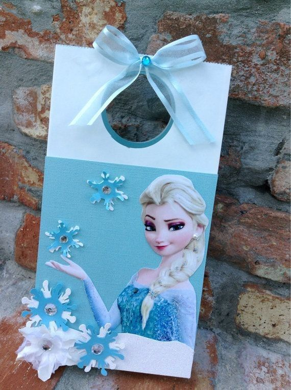 2014 Halloween Frozen themed Elsa treat bag with snowflake decoration