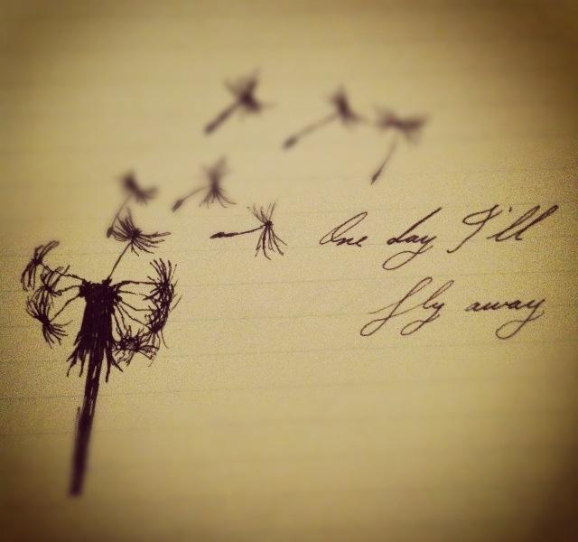 Pretty. #latestcreation Dandelion. One Day I'll Fly Away