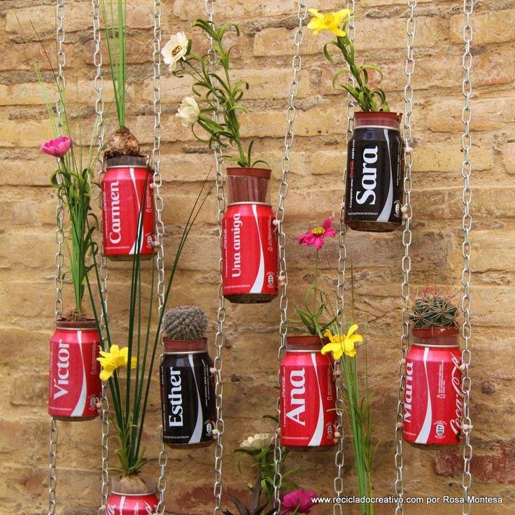 Las 25 mejores ideas sobre latas de caf en pinterest for Jardines en lata
