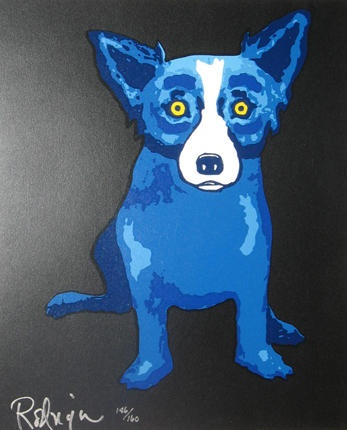 Blue Dog Painting by George Rodrigue