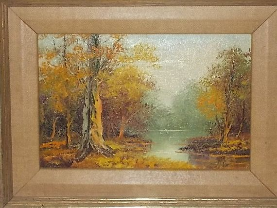 Painting Small Painting Vintage Painting by Daysgonebytreasures