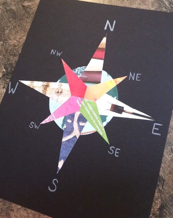 FREE compass rose craftivity, just use old magazines! More social studies ideas: https://goo.gl/OGvvx7