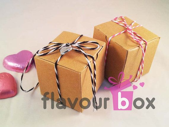 Kraft Boxes 2'' - by flavourbox