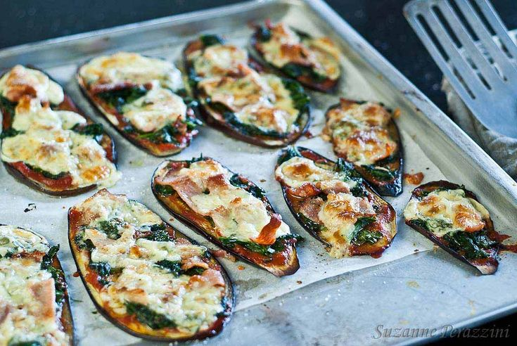 Eggplant pizzas which are grain-free. Recipe at www.strandsofmylife.com