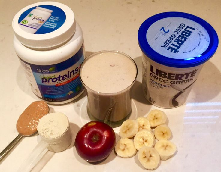 It's been a while since I've posted a smoothie picture. This one is a popular one that I have three times a week. #protein #veganprotein #yogurt #apple #banana #natural #peanutbutter #smoothie