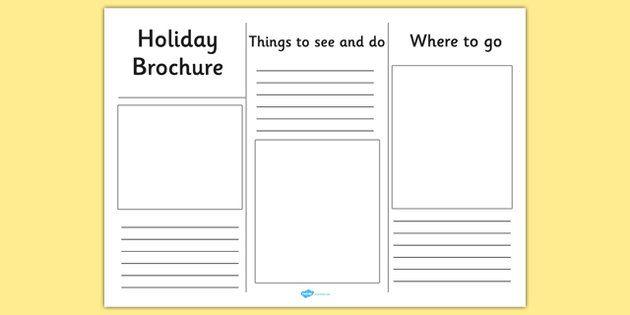 student brochure template - editable holiday brochure template holiday brochure