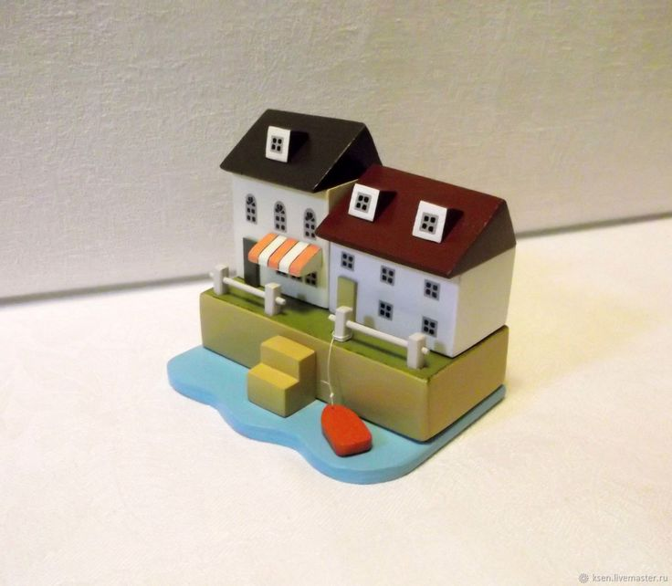 Купить Миниатюра, домик у моря, декор интерьера в интернет магазине на Ярмарке Мастеров