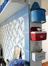 Tins and other collections for wall art.