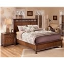Owensboro King Rustic Panel Bed with Low Profile Footboard by Signature Design by Ashley - Beck's Furniture - Platform or Low Profile Bed Sacramento, Rancho Cordova, Roseville, California