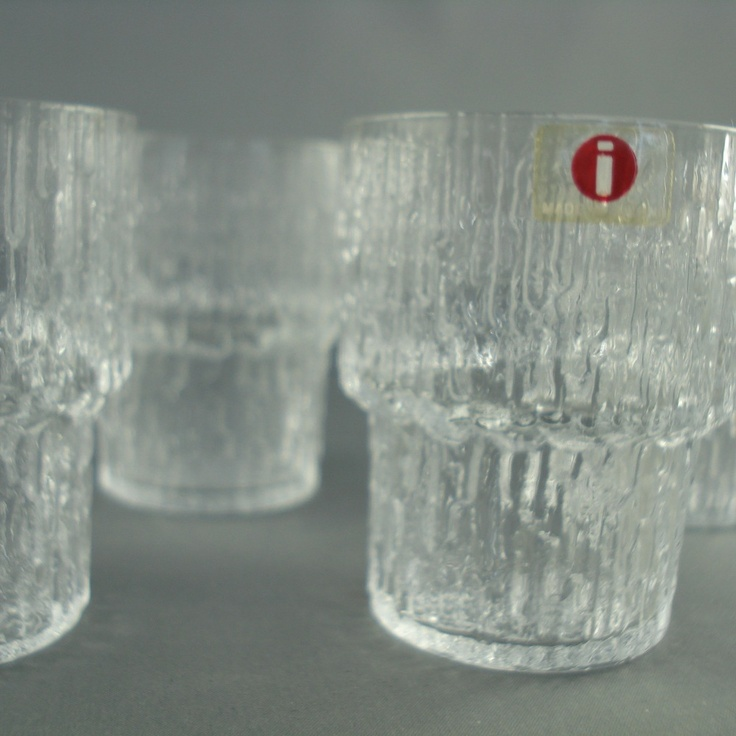 Image of Iittala FInland Wirkkala 4 Paadar Shot Glasses (I love this pattern)